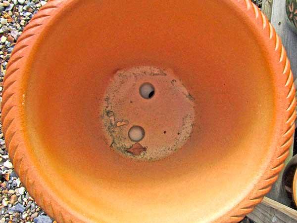 Керамзит в горшках для цветов